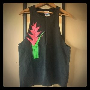 Hanes Retro Hawaii ginger muscle T sz S